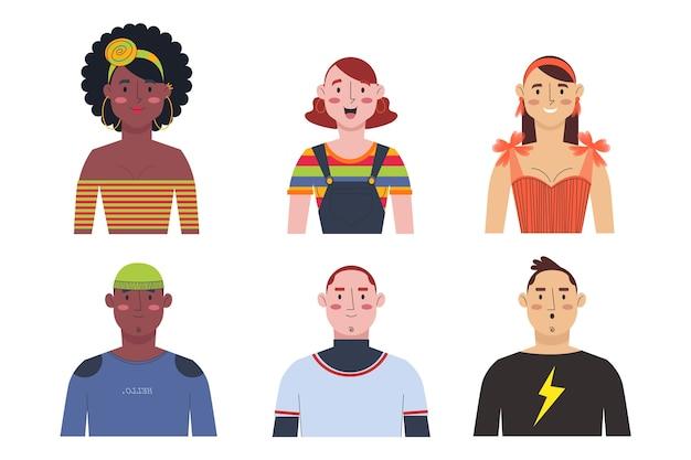 Значки группы людей
