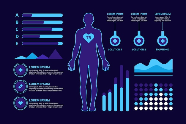 医療コンセプトインフォグラフィックデザイン