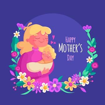 Концепция иллюстрации день матери