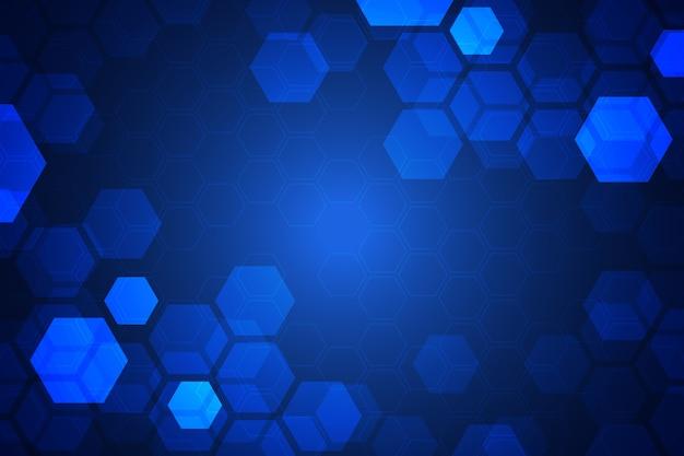 未来的な六角形の背景