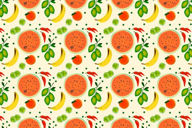 果物と野菜のフラットスタイル