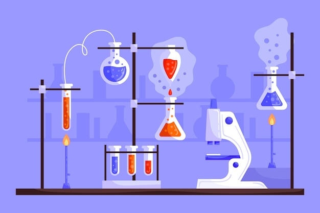Пакет элементов научной лаборатории