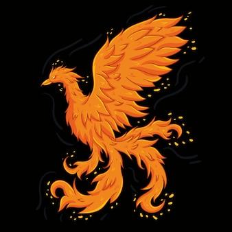 Ручной обращается красивая птица феникс