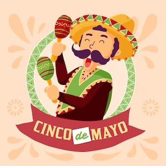Рисованной фон синко де майо
