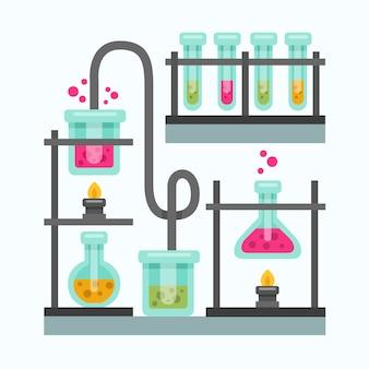 Плоский дизайн получателей химии