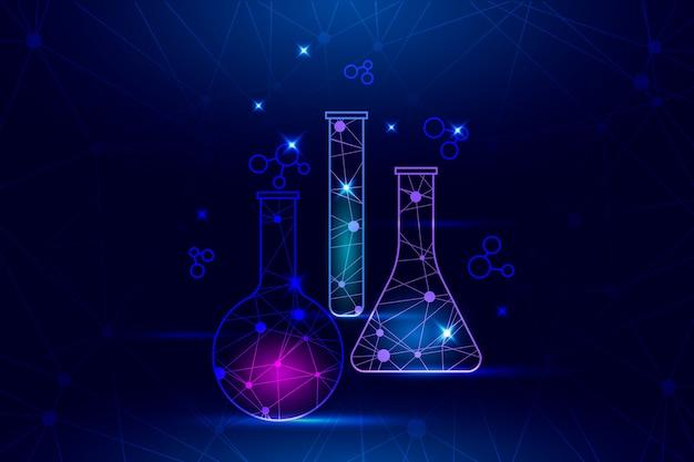 Футуристический фон научной лаборатории