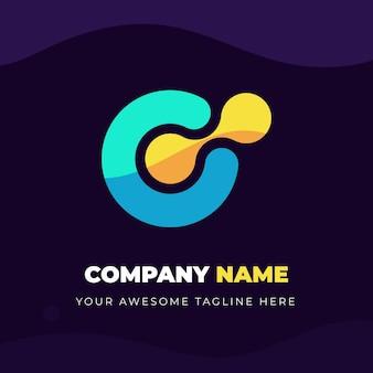 抽象的な会社のロゴのコンセプト