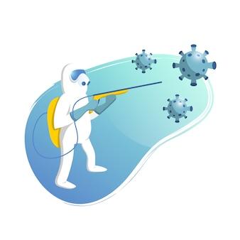 ウイルス消毒の図