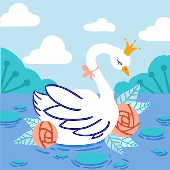 Лебединая принцесса иллюстрированная тема