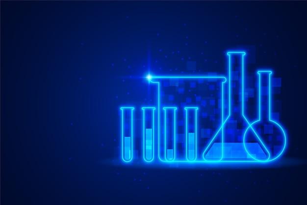 未来の科学研究室の背景