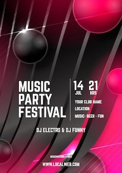 Абстрактный музыкальный постер