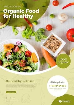 Шаблон флаера ресторана здорового питания