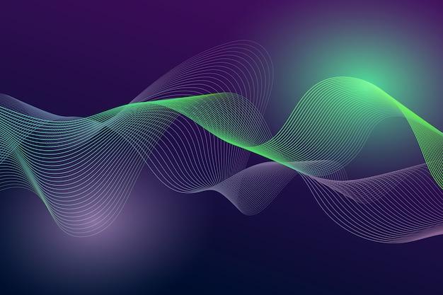 波状の背景概念
