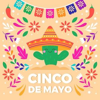Плоская концепция синко де майо