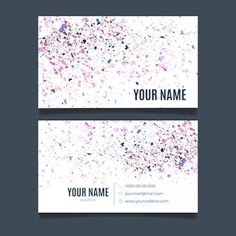 Абстрактная акварель визитная карточка