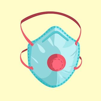 Медицинская маска в плоском дизайне