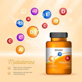 現実的なビタミン複合体パッケージ