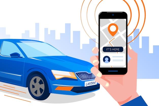 タクシーアプリインターフェイスの概念