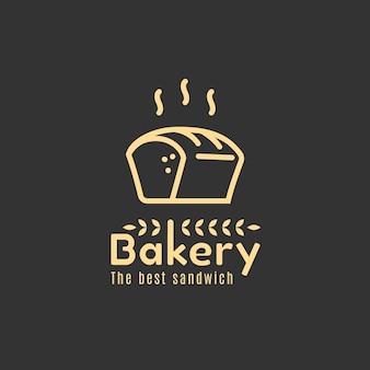 焼きたてのパンとスーパーマーケットのロゴのテンプレート