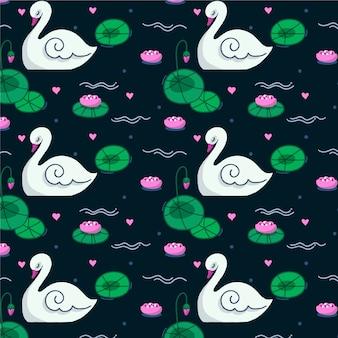 エレガントな白鳥のパターン