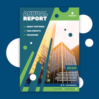 Бизнес шаблон с годовым отчетом