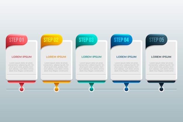 インフォグラフィックデザインタイムライン