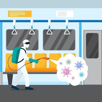 Иллюстрация дезинфекции вирусов