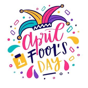 Апрельский день дураков в шляпе клоуна