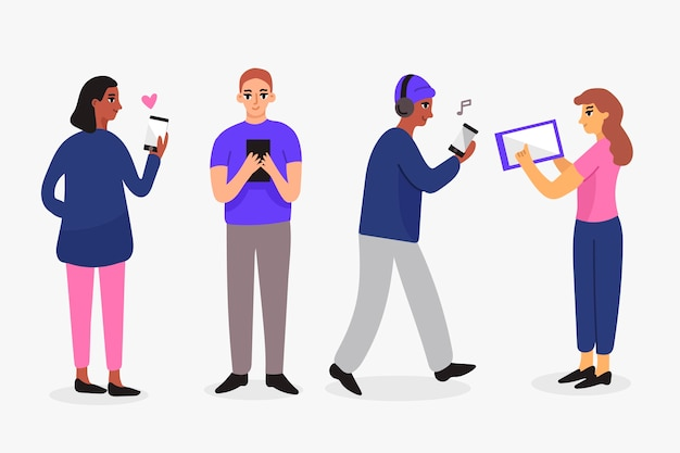 Люди с технологическими устройствами