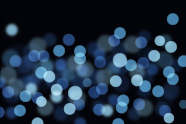 ドットとスポットの抽象的なぼやけたライト