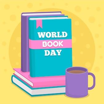 世界の本の日のお祝いデザイン