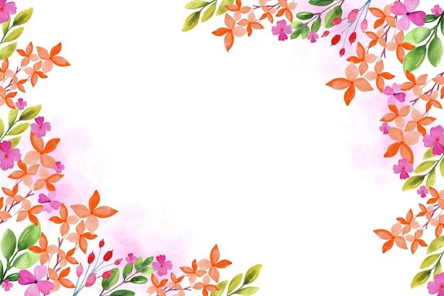 水彩画の花の背景