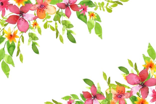 水彩画の花の背景スタイル