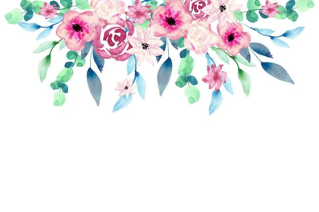 水彩のカラフルな花の壁紙デザイン