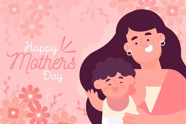 Стиль иллюстрации день матери