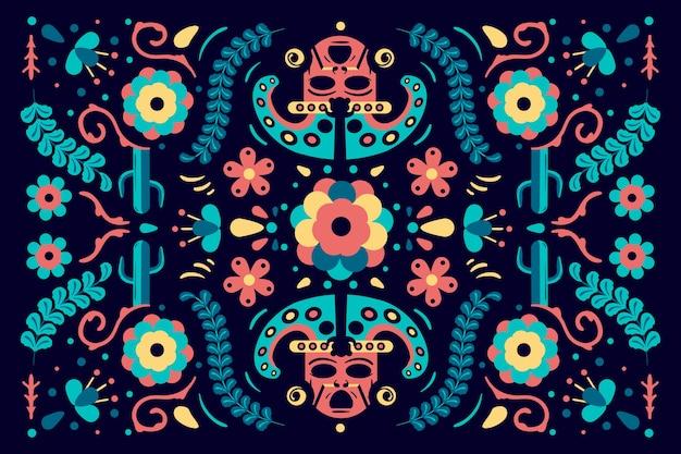 色とりどりのメキシコの背景