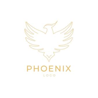 Контур логотипа феникса