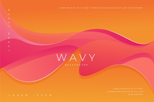 波状のカラフルな形状の抽象的な壁紙