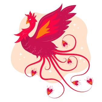 Иллюстрация с фениксом