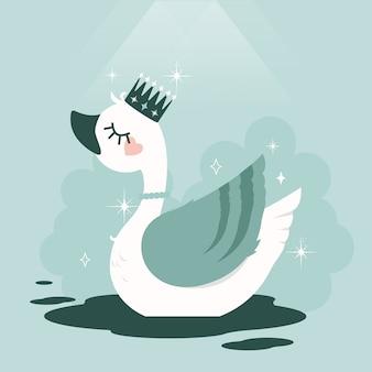 Концепция принцессы лебедя