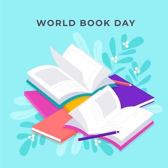 世界の本の日のコンセプト