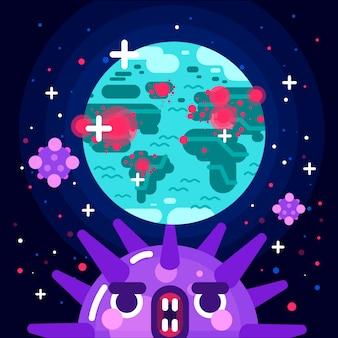 Концепция пандемии с планетой