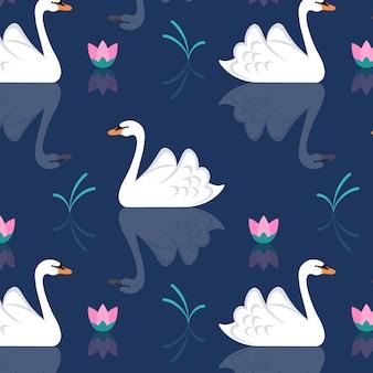 Прекрасный узор лебедя