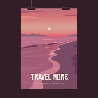 イラスト入り旅行ポスター
