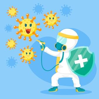 ウイルスの概念と戦う