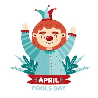Апрельский день дураков концепция рисования