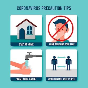 コロナウイルスの予防/保護のヒント