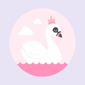 Иллюстрация с принцессой лебедя