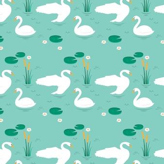 Элегантная коллекция лебедей