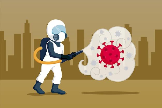 ウイルス消毒のコンセプト